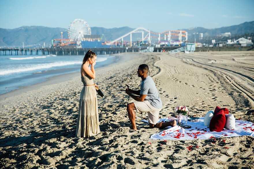 Santa Monica engagement photographer