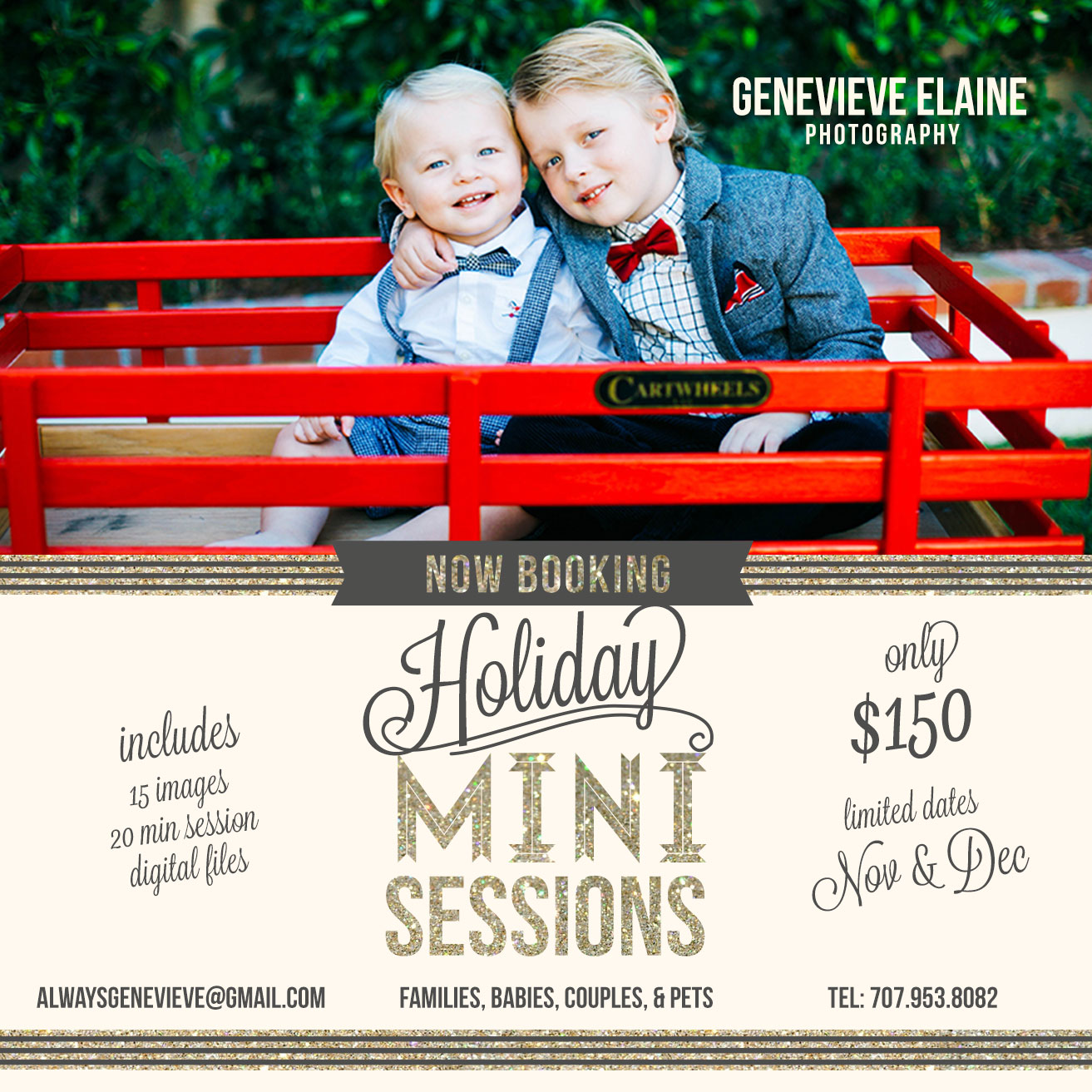 """<span style=""""color:#d31b02 ;"""">Holiday Mini Sessions! 