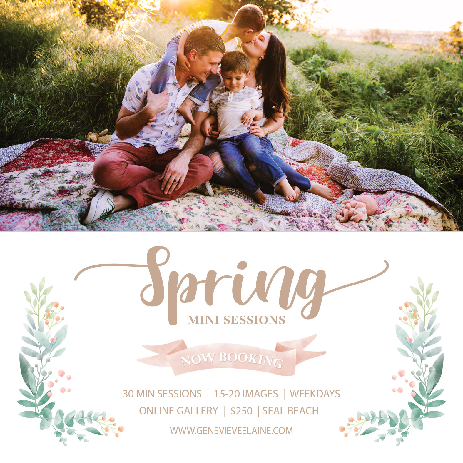 Los Angeles & Orange County spring mini sessions