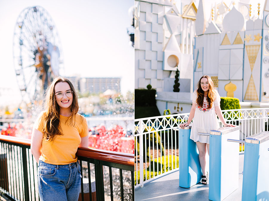 Los Angeles senior portrait photographer at Disneyland