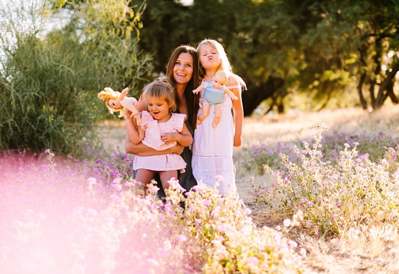 May with Evangeline & Goldie   Queen Creek Arizona family photographer