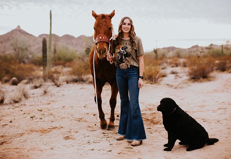 Mackenzie & Valentine | Phoenix Arizona senior portrait photographer